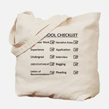 Vet School Checklist Tote Bag