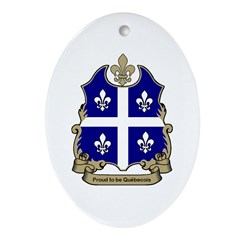 Proud Quebecois Oval Ornament