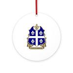 Proud Quebecois Ornament (Round)