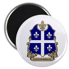 "Proud Quebecois 2.25"" Magnet (10 pack)"