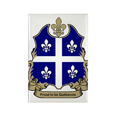 Proud Quebecois Rectangle Magnet (100 pack)