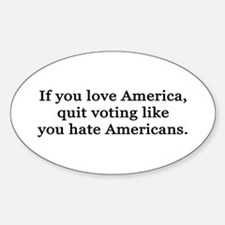 Love / Hate Sticker (Oval)