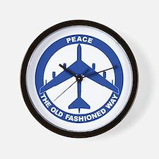 B-52G Peace Sign Wall Clock