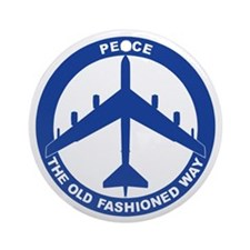 B-52G Peace Sign Ornament (Round)