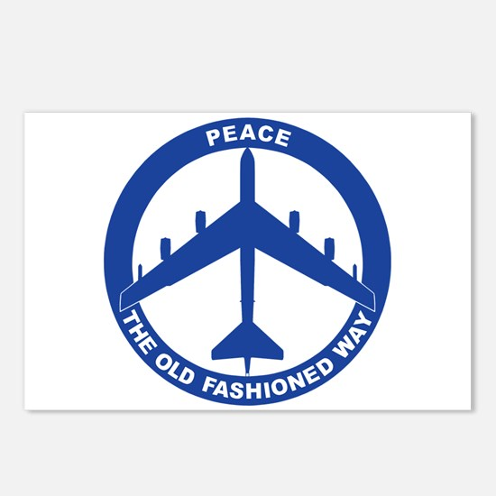 B-52G Peace Sign Postcards (Package of 8)