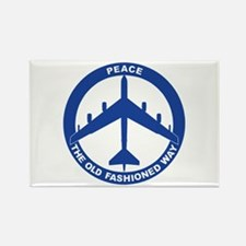 B-52G Peace Sign Rectangle Magnet