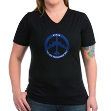 B-52H Peace Sign Women's V-Neck T-Shirt (Dark)