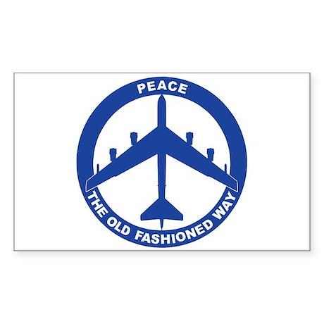 B-52H Peace Sign Sticker (Rectangle)