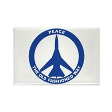 FB-111A Peace Sign Rectangle Magnet
