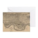 New Orleans Map 1849Cards (Package of