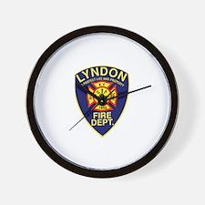 Lyndon Fire Dept Logo Items Wall Clock