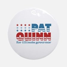 Quinn for Governor Ornament (Round)