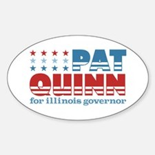 Quinn for Governor Sticker (Oval)