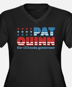 Quinn for Governor Women's Plus Size V-Neck Dark T