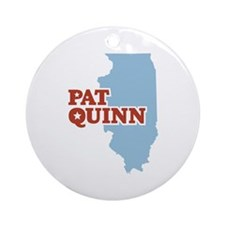 Pat Quinn Illinois Ornament (Round)