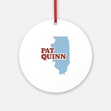 Pat Quinn Illinois Ornament (Round)