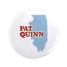 "Pat Quinn Illinois 3.5"" Button"