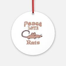 Rat Ornament (Round)