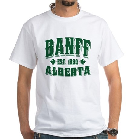 Banff Old Style Green White T-Shirt