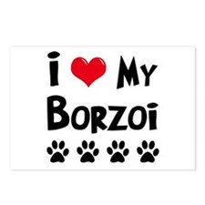 I Love My Borzoi Postcards (Package of 8)