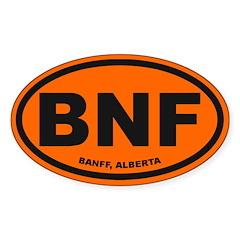 Banff Alberta Sticker (Oval)