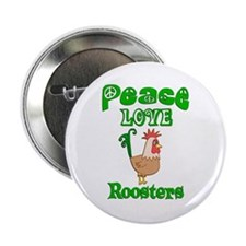 """Rooster 2.25"""" Button"""