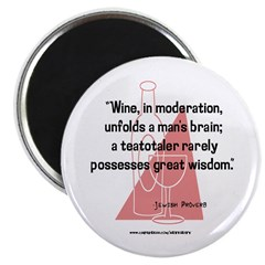 Wine and Great Wisdom Magnet