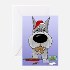 Schnauzer Santa's Cookies Greeting Card