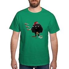 Black Lab Santa T-Shirt