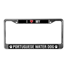 I Love My Portuguese Water Dog License Plate Frame