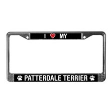 I Love My Patterdale Terrier License Plate Frame