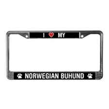I Love My Norwegian Buhund License Plate Frame