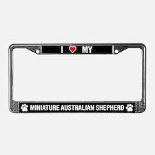 Miniature Australian Shepherd LicensePlateFrame