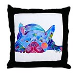 French Bulldog Frenchies Throw Pillow