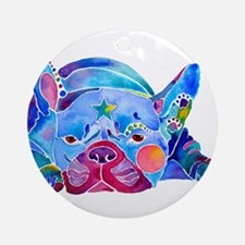 French Bulldog Frenchies Ornament (Round)
