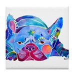 French Bulldog Frenchies Tile Coaster