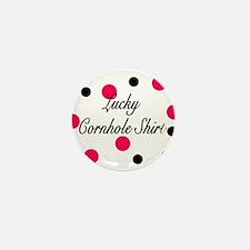 Lucky Cornhole Shirt Mini Button