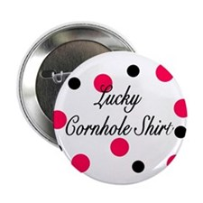 "Lucky Cornhole Shirt 2.25"" Button"
