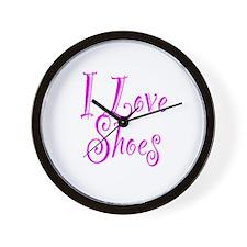I Love Shoes Wall Clock