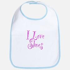I Love Shoes Bib