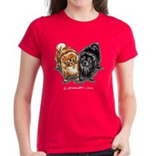Black Red Pomeranian Tee