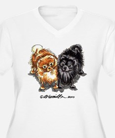 Black Red Pomeranian T-Shirt