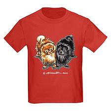 Black Red Pomeranian T