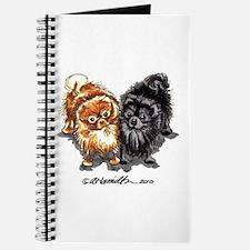Black Red Pomeranian Journal