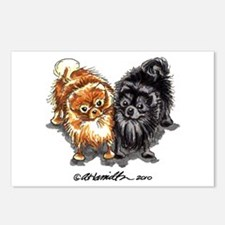 Black Red Pomeranian Postcards (Package of 8)