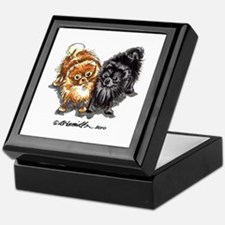 Black Red Pomeranian Keepsake Box