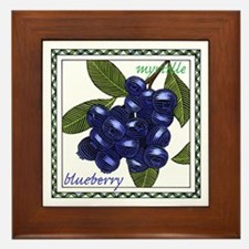 Blueberry Framed Tile