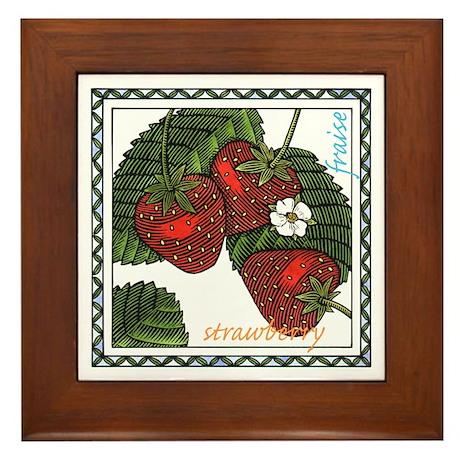 Strawberry Framed Tile