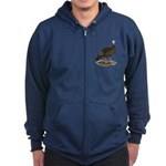 Turkey: Eastern Wild Hen Zip Hoodie (dark)