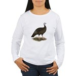 Turkey: Eastern Wild Hen Women's Long Sleeve T-Shi